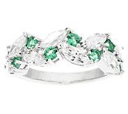 Epiphany Diamonique & Simulated Gemstone Band Ring - J291349