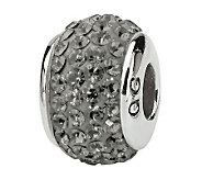 Prerogatives Sterling Full Silver/Gray Swarovski Crystal Bead - J299649