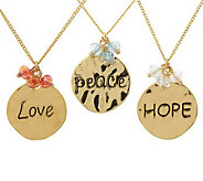 Set of 3 Inspirational Charm Necklaces by Garold Miller - J306649