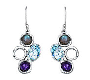 Or Paz Sterling Roman Glass & Gemstone Drop Earrings - J306749