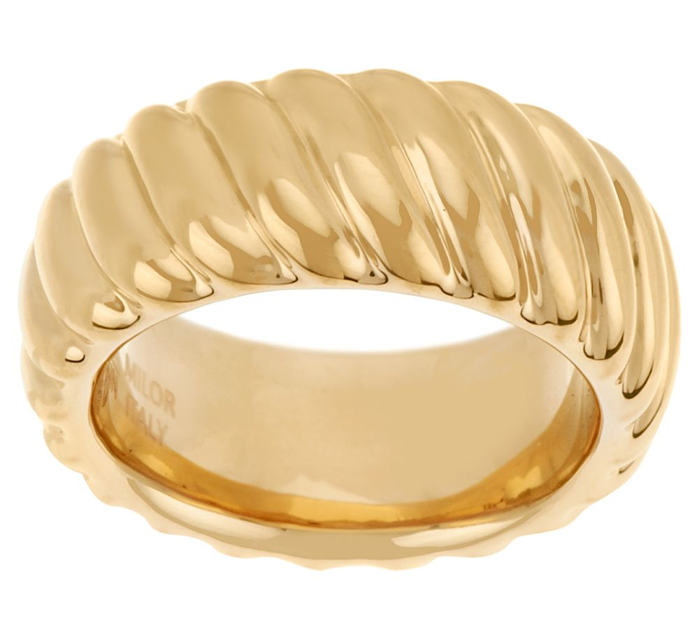 Oro Nuovo Bold Polished Ribbed Ring 14K - J319649