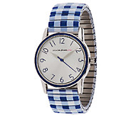 Isaac Mizrahi Live! Gingham Print Expansion Watch - J320549