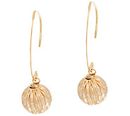EternaGold 10mm Sparkle Bead Dangle Earrings 14K Gold - J325449