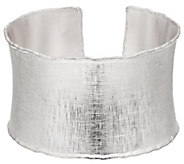 As Is Artisan Crafted Sterling Satin Finish Large Bold Cuff,37.2g - J329249