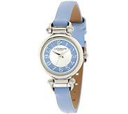 As Is Liz Claiborne New York Horsebit Skinny Strap Watch - J330649