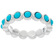Jane Taylor Turquoise Sterling Silver Band Ring - J330949