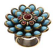 As Is Fern Mallis Cabochon Flower Ring - J331849