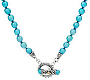 Barbara Bixby Sterling/18K Teal Cultured Freshwater Pearl Necklace - J332249