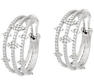 Judith Ripka Sterling_2.45 cttw Diamonique Multi Hoop Earrings - J334149