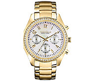 Caravelle New York Womens Goldtone Bracelet Watch - J336849