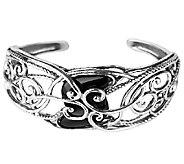 Carolyn Pollack Sterling Carved Black Onyx Cuff Bracelet - J337749