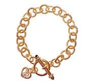 Judith Ripka Sterling & 14K Clad 7-1/2 Link Bracelet - J339349