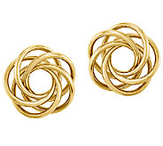 Large Love Knot Earrings, 14K Gold - J339649