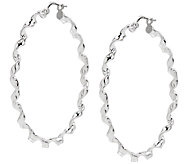 UltraFine Silver 1-3/4 Round Twisted Hoop Earrings - J339949