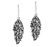 Sterling Cascading Leaves Dangle Earrings by OrPaz - J340049