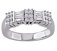Round and Baguette Diamond Ring, 14K, 1/2 cttw,by Affinity - J343749