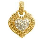 Judith Ripka 14K Gold-Clad Sterling DMQ Reversible Enhancer - J344249