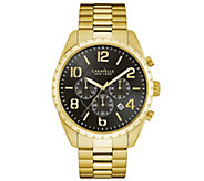 Caravelle New York Mens Goldtone Chronograph Watch - J344449