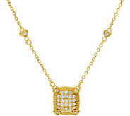 Judith Ripka Sterling & 14K Clad Pave Diamonique Necklace - J347049