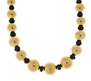 As Is Oro Nuovo 18 45.00 ct tw Black Spinel & Bead Necklace, 14K - J347149