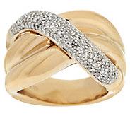 As Is 14K Gold 1/2 ct tw Diamond Swirl Design Ring - J349449