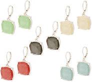 Joan Rivers Set of 5 Opaque Glitter Earrings - J353449