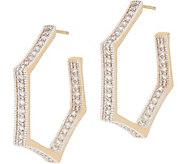 BROOKE SHIELDS Timeless Pave Hexagon Hoop Earrings - J354549