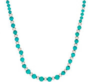 Graduated Turquoise Necklace, Sterling Silver - J354649