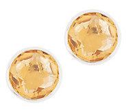 Semi-Precious Gemstone Stud Earrings, Sterling Silver - J355149