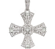 Judith Ripka Sterling & Diamonique Cross Enhancer - J374749