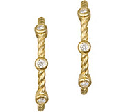 Judith Ripka 14K Gold & Diamond 7/8 HoopEarrings - J374949