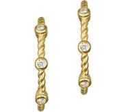 Judith Ripka 14K Gold & Diamond 7/8 HoopEarrings - J374949