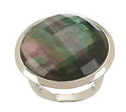 Honora Mother-of-Pearl Round Faceted Doublet Sterling Ring - J273650