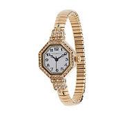 Isaac Mizrahi Live! Crystal Bezel Vintage Stretch Watch - J281550