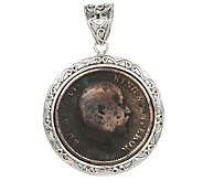 Artisan Crafted Limited Edition Sterling Ancient Coin Pendant - J282450