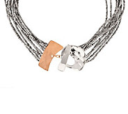 RLM Studio Sterling/Bronze Multi-Strand Front Facing Toggle Necklace - J282650