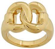 Oro Nuovo Polished Interlocking Status Link Ring, 14K - J289350