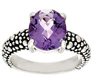 Michael Dawkins Sterling Starry Night 2.60 cttw. Amethyst Ring - J289650