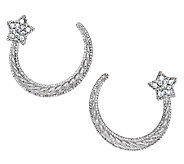 Judith Ripka Sterling & Diamonique Shooting Star Earrings - J293250