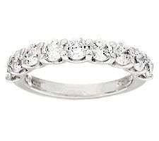 Epiphany Diamonique 1.40cttw 100-Facet Band Ring