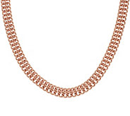 Bronze 18 Woven Figure Eight Design Necklace by Bronzo Italia - J296250