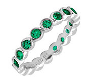 Simply Stacks Sterling Large Created-Emerald Eternity Ring - J298650