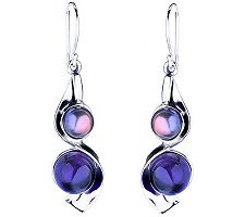 Hagit Gorali Sterling Multi-Gemstone Drop Earri ngs