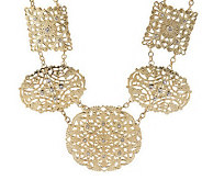 Filigree Section Necklace with Crystals by Garold Miller - J308550