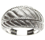 Judith Ripka Sterling Textured Domed Band Ring - J309050