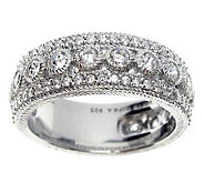 Judith Ripka Sterling Diamonique Band Ring - J311450