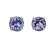 1.10ct tw Tanzanite Round Post Earrings, 14K White Gold - J311850