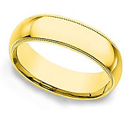 Sterling 5MM Unisex Milgrain Silk Fit Band R ing, 14K Clad - J312250