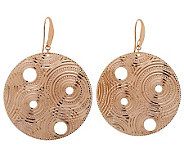 Bronzo Italia Diamond-Cut Round Dangle Earrings - J312950