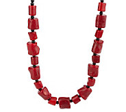 Lee Sands Free-Form Shape Coral Bead 17 Adjustable Necklace - J315050